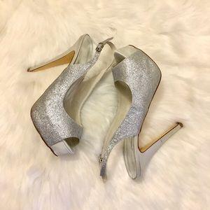 Women Sparkling glitter stiletto heel pump size 8